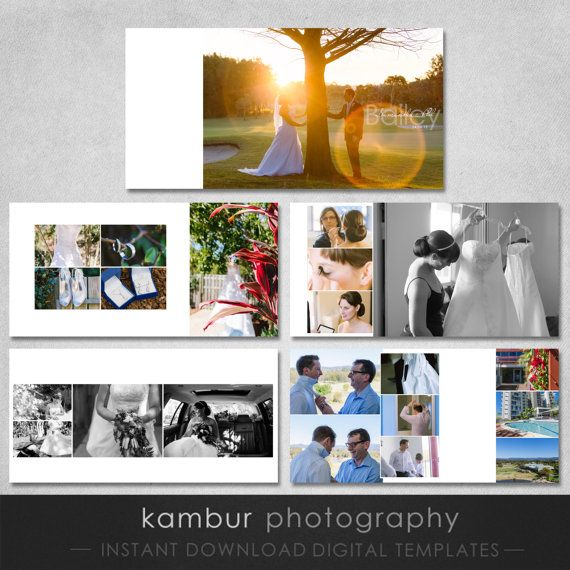 12x12 Psd Wedding Al Template 15 Spread 30 Pages Clic Modern Design White