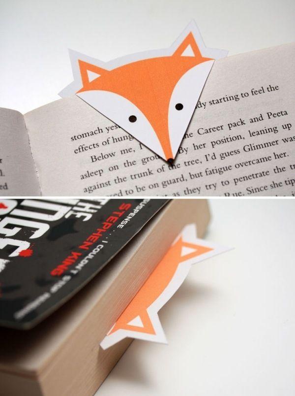 fuchs accessoires f r den herbst lesezeichen aus papier weihnachtsgeschenke pinterest. Black Bedroom Furniture Sets. Home Design Ideas