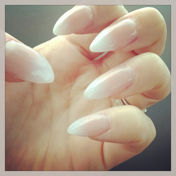 Ongles pointus gel - Forme des ongles ...