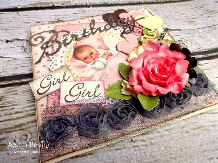 Scrap Pasja: Kartka dla dziewczynki