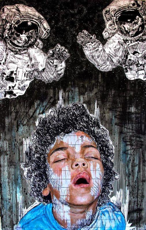 Via the 'Street Art - Community' on Google+...Giorgio Magnani shared this Street Art by STMTS ♥❤♥