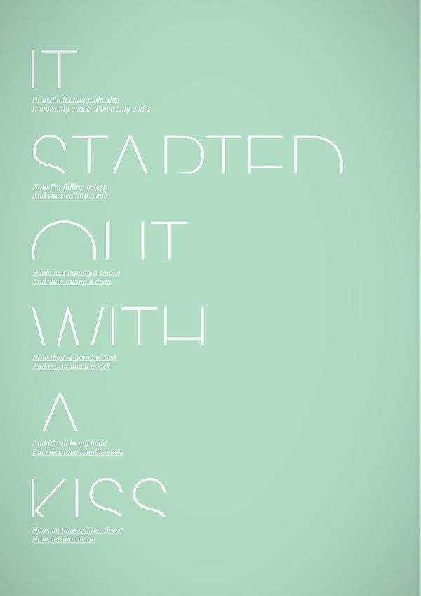 it started out with a kiss