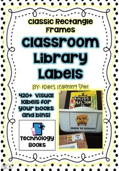 This set of over 420 book labels will help to both organize your classroom library and enable your students to be successful at maintaining a neat library on their own!  This visual book label system can be successfully implemented in any classroom ranging from Kindergarten through 8th grade.