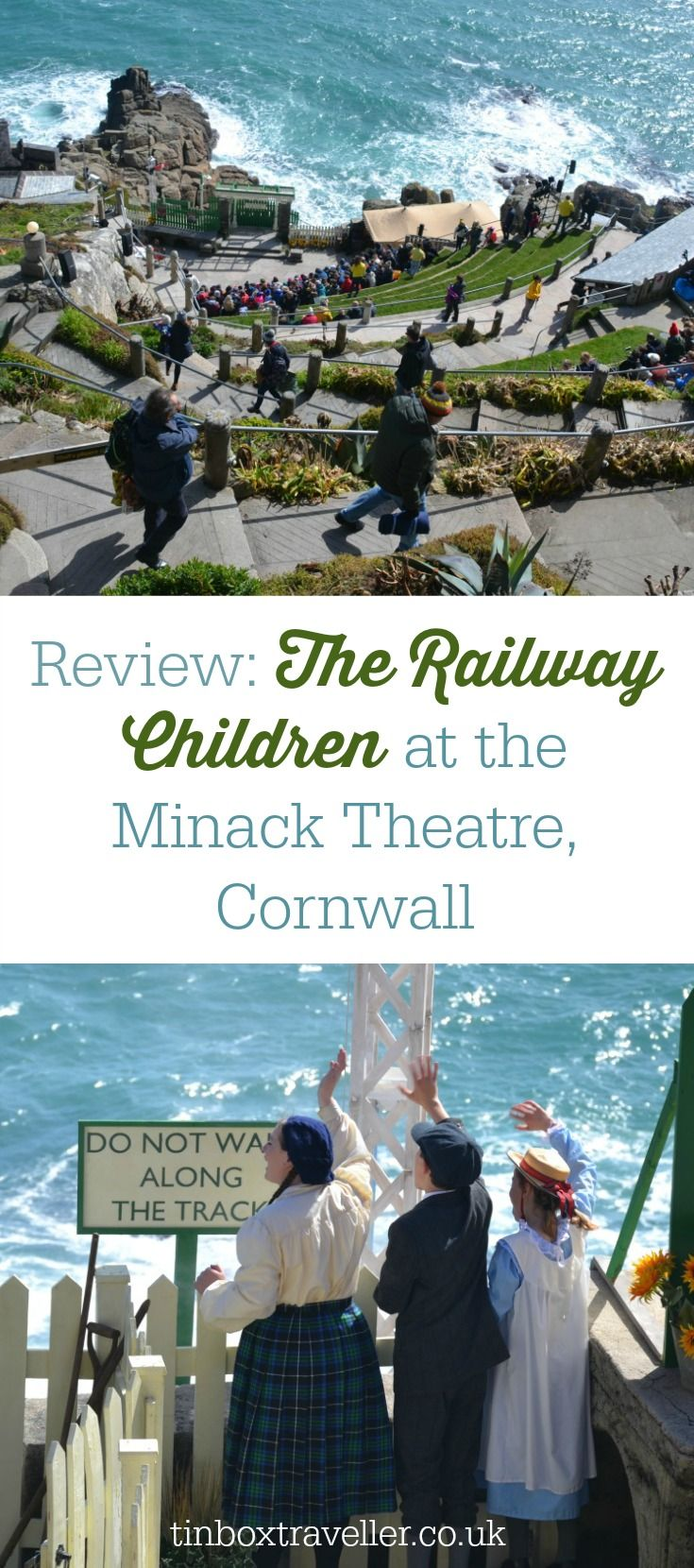 A review of the opening matinee performance of The Railway Children at the Minack Theatre in Cornwall - a cliff top, open air theatre venue with amazing views of the Atlantic #Cornwall #outdoortheatre #culturedkids #loveCornwall #theatre