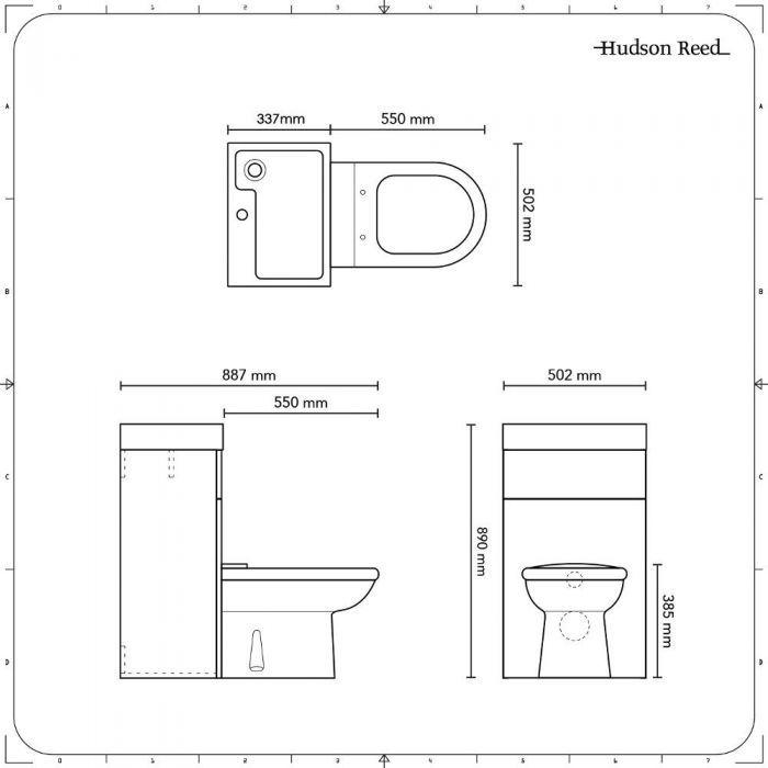 D Formige Toilette Mit Spulkasten Und Integriertem Waschbecken Betongrau Waschbecken Toilette Toiletten