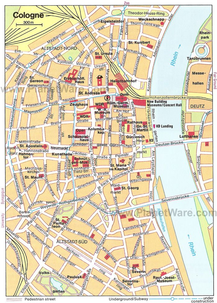 Cologne Map - Tourist Attractions