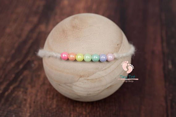Rainbow Baby Tieback for Newborn Photography. High Quality, Quick Shipping, Fantastic Shop! Tiny Tot Prop Shop ♥