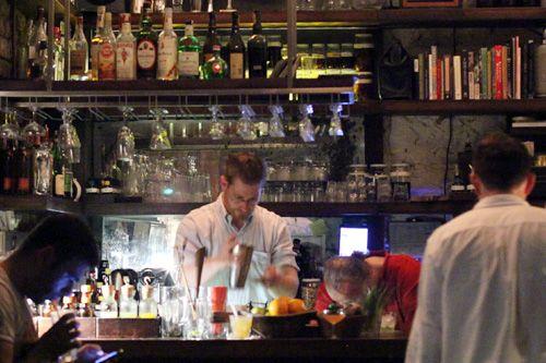Bar with No Name // Alex Waldman's tiny cocktail bar, nameless but famous