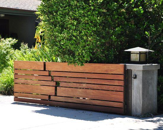 Horizontal Slat Fence Design | Entrance | Pinterest