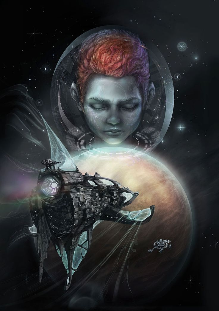 scifi book cover art by Sirkku Tuomela