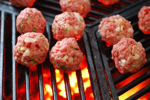Nibble Me This: Grilled Meatballs | Grill | Pinterest