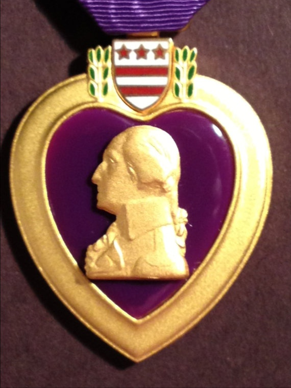 Military Medal us The Purple Heart Comes In The by BLUETUMBLEWEEDS, $50.00