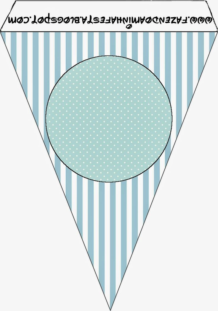Light Blue and White Stripes and Polka Dots Free Party Printables.