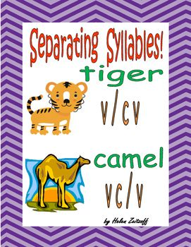 Syllables!   V/CV - VC/V Lessons, practice and reinforcement provide the ease of decoding these words.