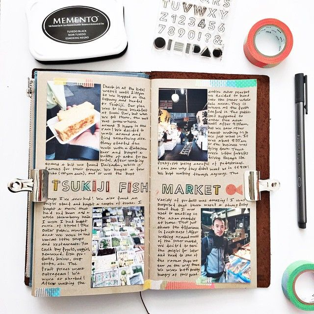 More from my Tokyo Scrapbook. I am really loving this format, I haven't journaled this much in a long time.