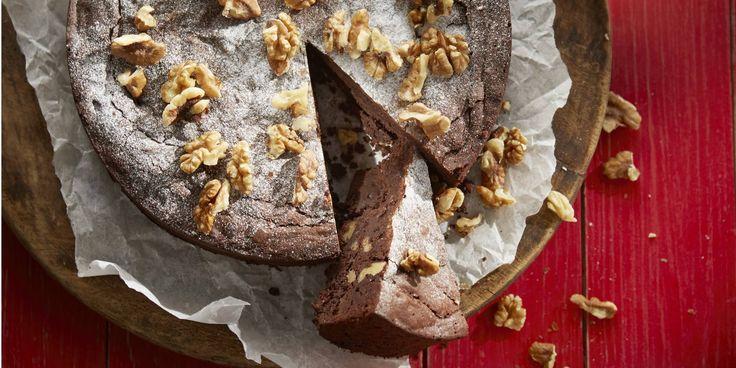 Boodschappen - Chocoladetaart met walnoten