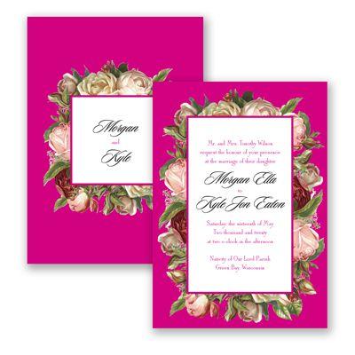 Impressive Roses - Begonia - Invitation   Invitations By David's Bridal