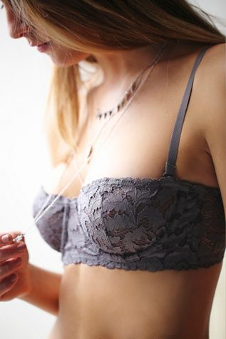 Love Letters Convertible Bra | Free People Sheer, delicate lace strapless underwire bra featuring scalloped trim.