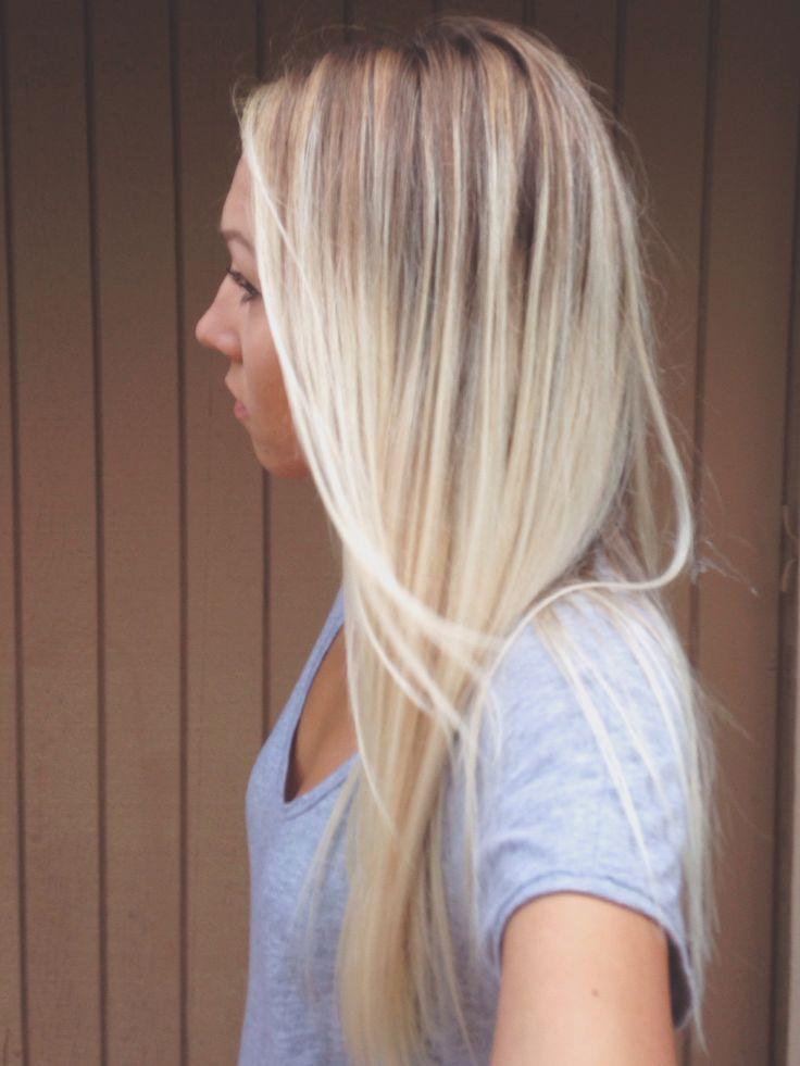 Balayage, blonde, hair,