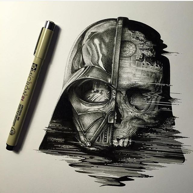 Darth Vader By @pauljacksonlives _ Also check out our new art featuring page @artshelp