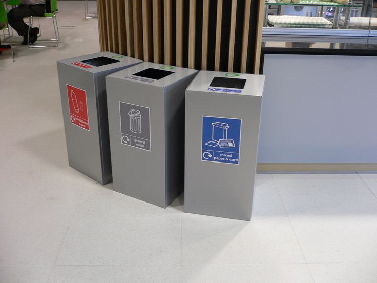 Office Recycling Bins Sorting 100 Litre Square | Reciclado | Pinterest |  Office Spaces, Contemporary And Spaces