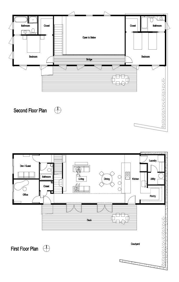 Image 16 of 20 from gallery of House for a Mother & Daughter / Robert Hutchison Architecture + Tom Maul Architecture + Design.. Plans