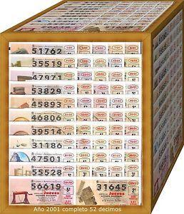 a ano 2001 completo loteria nacional del jueves