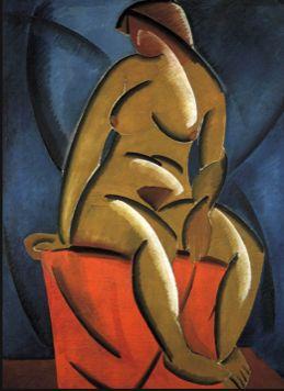 LA COLLECTION MYTHIQUE À PARIS La fondation Louis Vuitton expose une des collections d'art moderne les plus célèbres au monde, celle de Sergueï Chtchoukine. // Nu, Vladimir Tatline (1913).