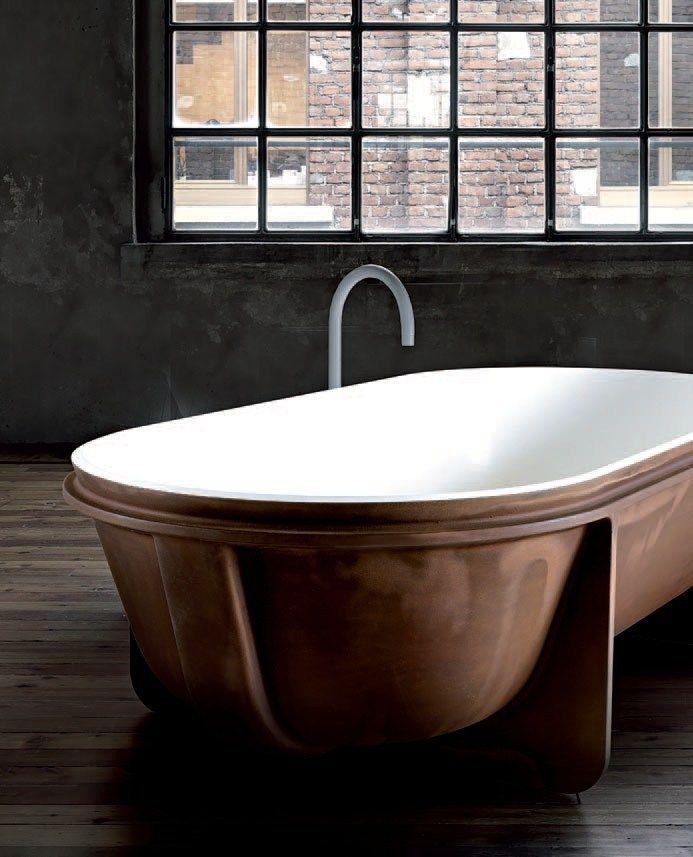 Freestanding Cristalplant® bathtub Controstampo Collection by FALPER   design Vittorio Venezia, Dario Gaudio