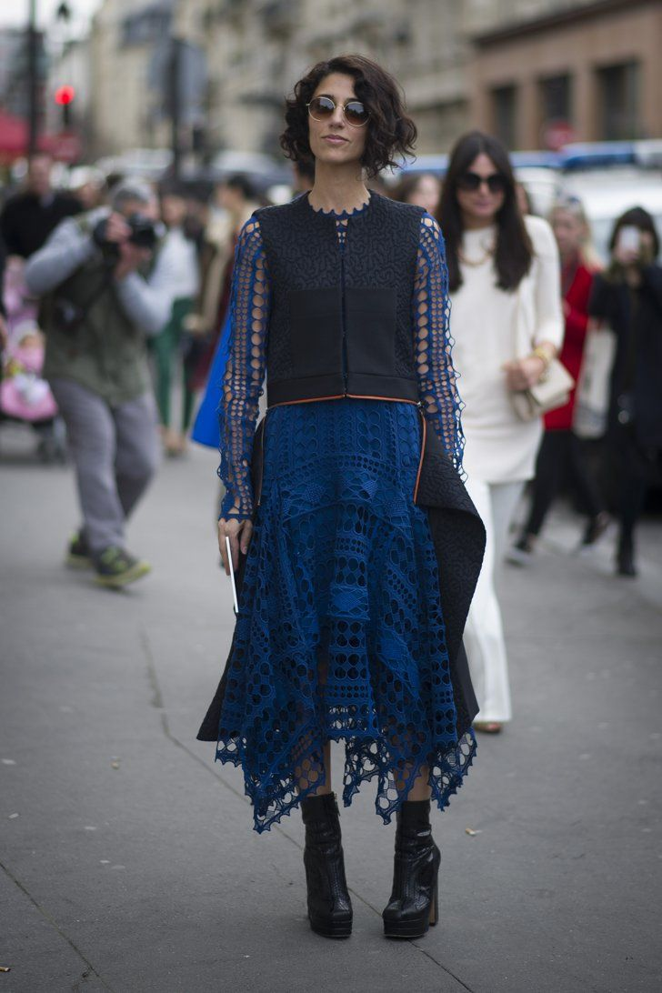 Pin for Later: The 50 Best Street Style Looks of 2014  There's something inherently special about Yasmin Sewell's bright blue eyelet.