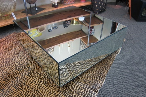 Picture of Square Mirrored Coffee Table Living room Pinterest