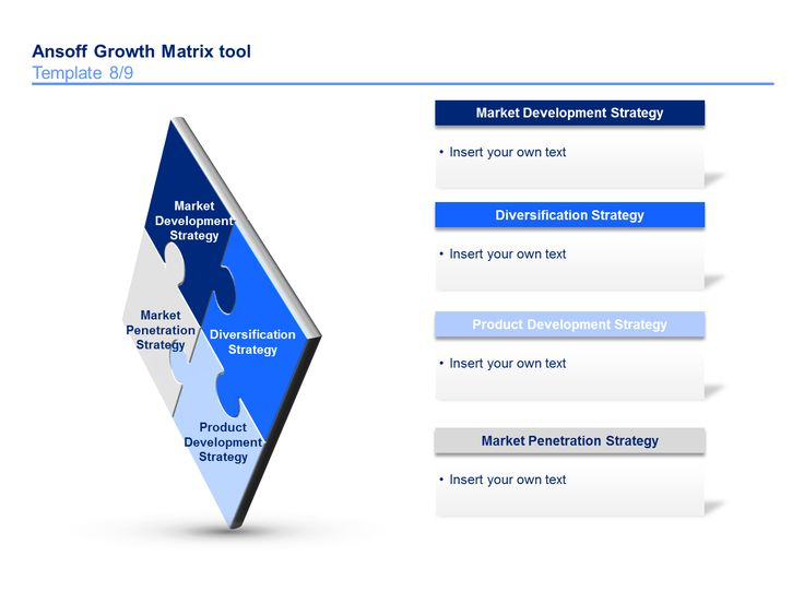 Best Ansoff Matrix Template  By ExMckinsey Consultants Images
