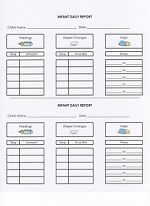 Daycare Infant Daily Report. Keep track of bottles, solid feedings, diaper changes and naps with easy forms that parents love!