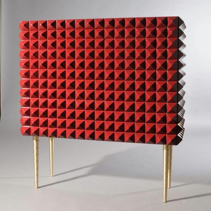 Modern sideboard ideas | red hot spiky sideboard |www.bocadolobo.com #modernsideboard #sideboardideas