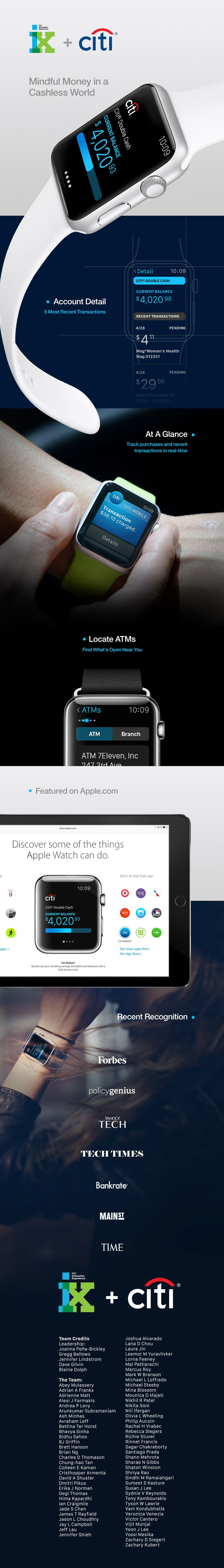 Citi Mobile Lite for Apple Watch on Behance
