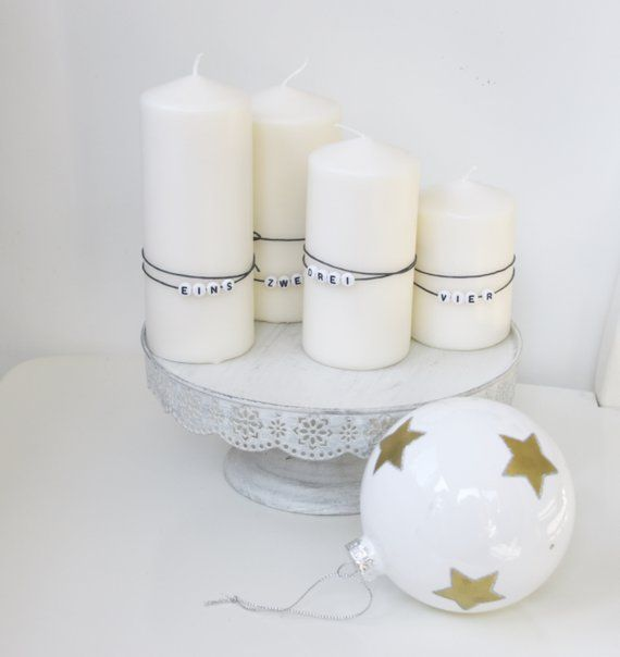 Zahlen Fur Adventskerzen Advent Kerzen Adventskerzen Kerzen