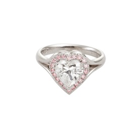GS Diamonds, Ladies Heart Diamond and Pink Rubic Diamond Ring, $29,000.00, Shop 21-23, Level 1, QVB