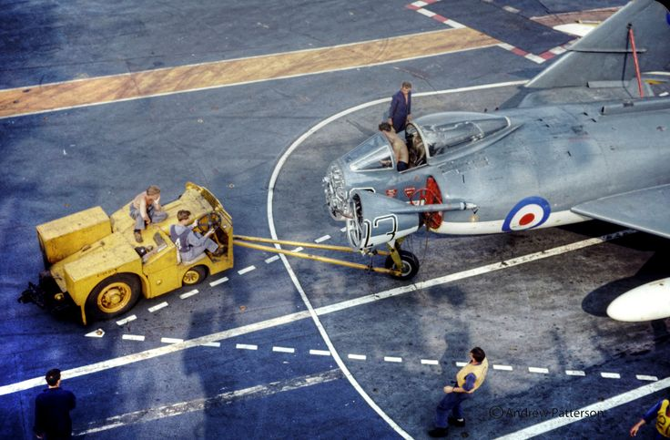 Supermarine Scimitar of 800NAS  aboard HMS Ark Royal 1963