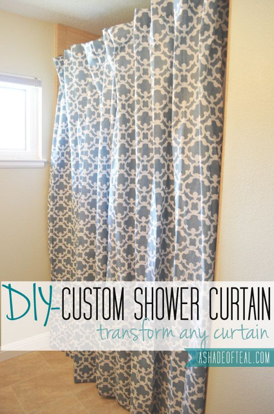 Making An Extra Long Shower Curtain From Any Curtain A Shade Of