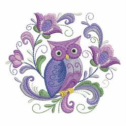 Rosemaling Owl 09 machine embroidery designs