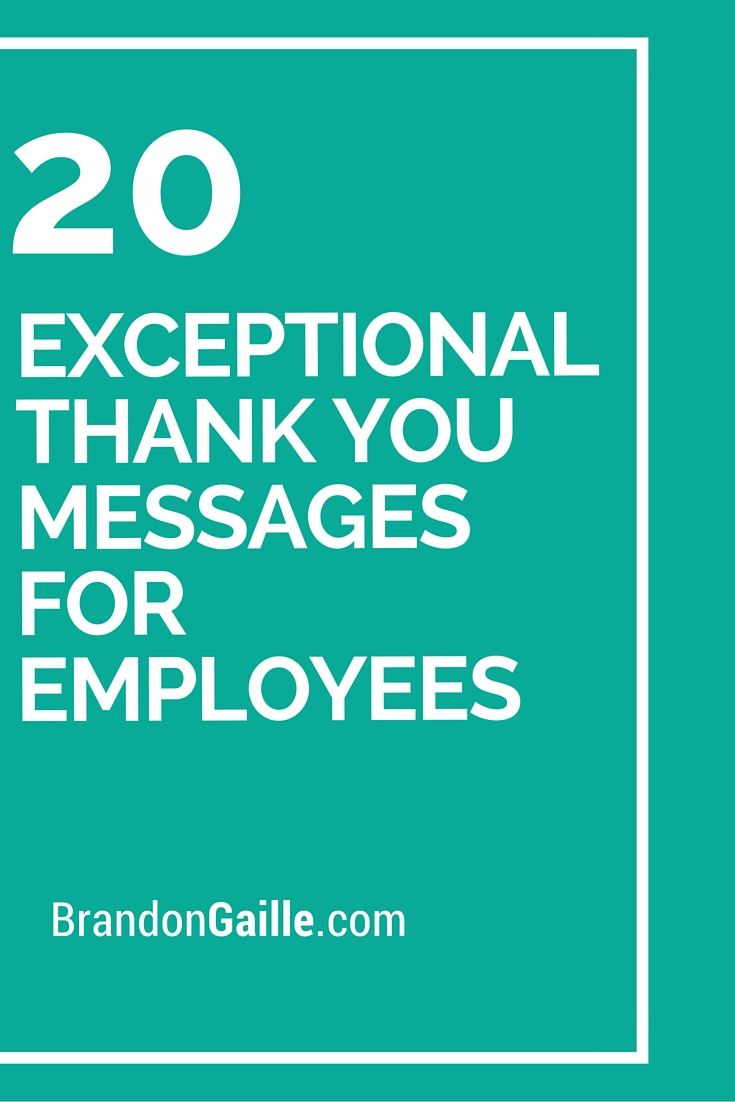 21 Exceptional Thank You Messages For Employees Messages And