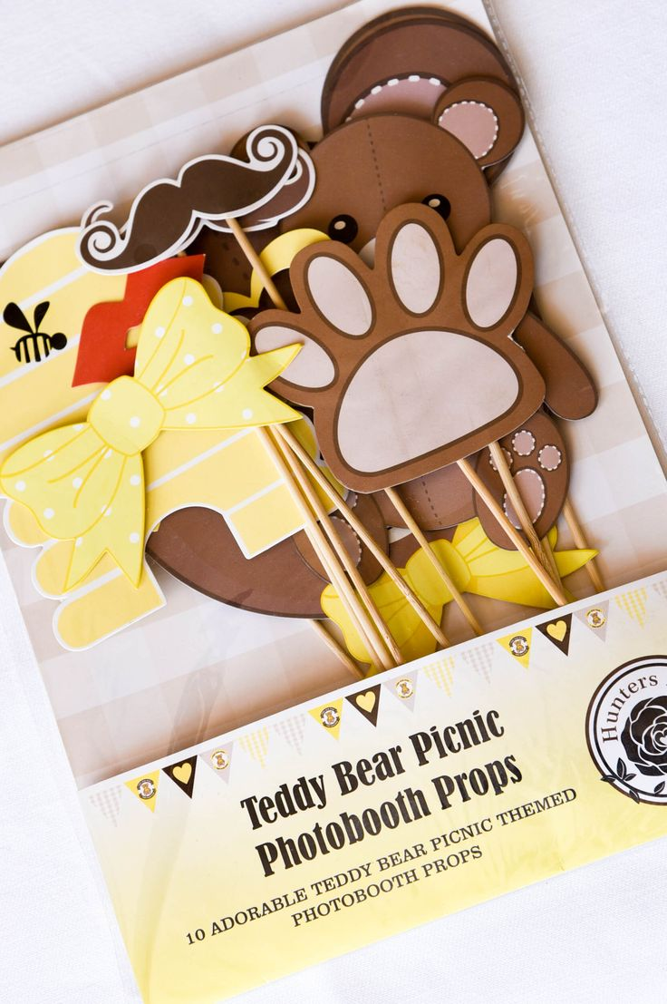 Teddy Bear Picnic photobooth props by Hunters Rose