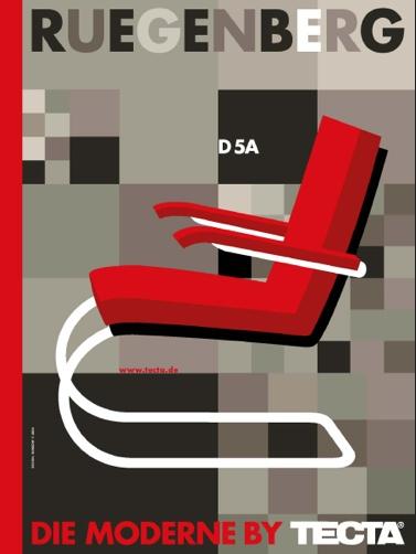 By Gunter Rambow, Poster Sergius Ruegenberg D5A, TECTA. (G)
