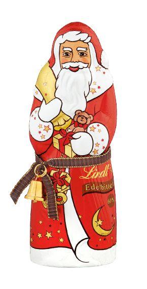 Was wäre Weihnachten ohne den Lindt Weihnachtsmann. Mit Liebe zum Detail haben die Lindt Maîtres Chocolatiers diesen besonderen 125g Weihnachtsmann jetzt auch für Liebhaber der Edelbitter-Chocolade mit einem besonders hohen Cacao-Anteil von 60% kreiert. Der feine Schmelz der Chocolade und das von Hand angehängte echte Glöckchen machen den Weihnachtsmann von Lindt einzigartig. Als Dekoration in der Weihnachtszeit oder auf dem bunten Weihnachtsteller darf er nicht fehlen.