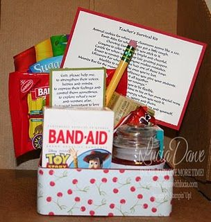teacher survival kits. Cute gift idea for new teachers