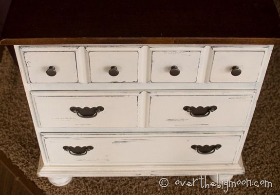 Great tips on how to paint furniture without sanding or priming! Specifically painting things white! www.overthebigmoon.com