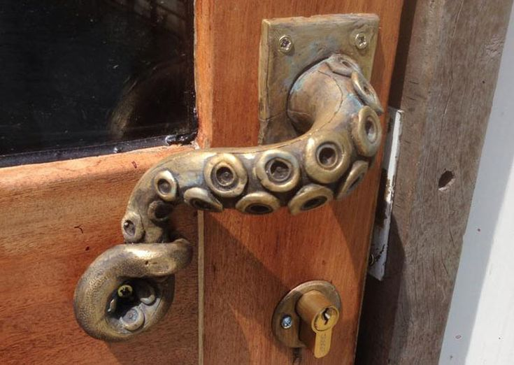 Poignée de porte poulpe