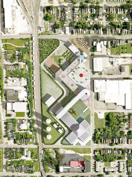 OMA Designs Food Port for West Louisville,Roof Plan. Image Courtesy of OMA