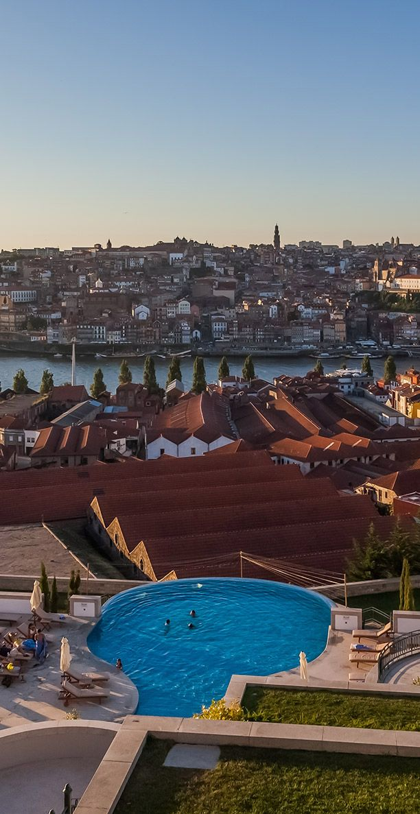 Sunset in Porto,from the beautiful Yeatman Hotel Portugal