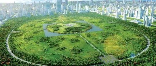 China Park: la ciudad verde de Gu Wenda. Imágenes de la ciudad China Park de Gu Wenda. Es un concepto respetuoso con el medio ambiente, que incluye jardines públicos que dibujan caracteres chinos. La idea es válida tanto como desarrollo residencial y comercial. Incluye grandes espacios verdes, con estanques y arroyos artificiales. La simbología tradicional china es clave en la obra de este autor, nacido en Shanghái en 1955.   #DesarrolloSostenible